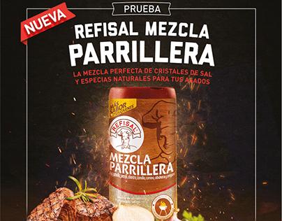 DISEÑO EMPAQUE REFISAL MEZCLA PARRILLERA