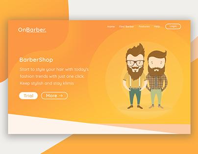 OnBarber | Landing Page