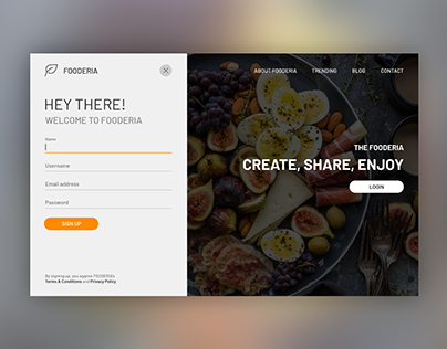 Daily UI Challenge #001 Sign Up
