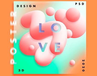 Fluid 3D Poster