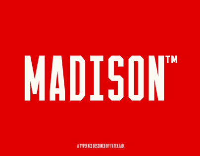 Madison™ College Typeface