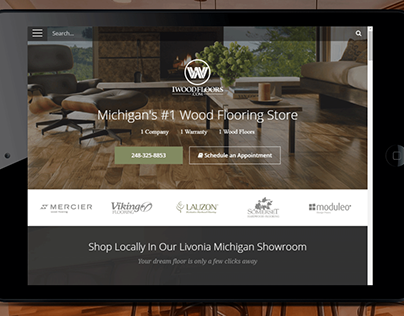Wood flooring store website design