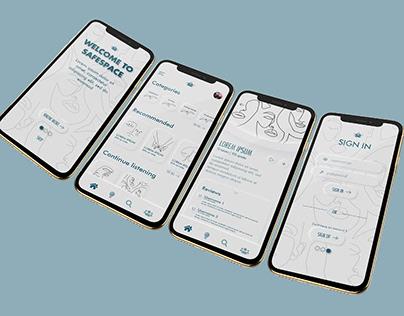 Neomorphism UI app design