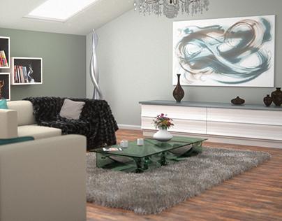 Loft Interior 3D Arch Viz