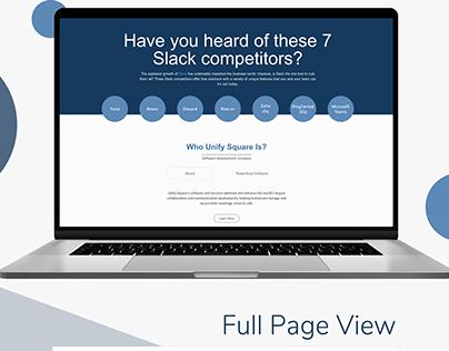Competitors Page Design