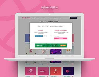 Get Dribbble Invite in your Inbox! Popup Design