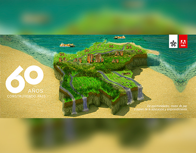 Adobe - Sena 60 Años - Colombia Isometric