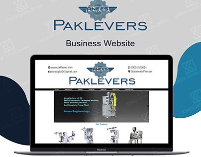 PAK LEVERS BUSINESS WEBSITE