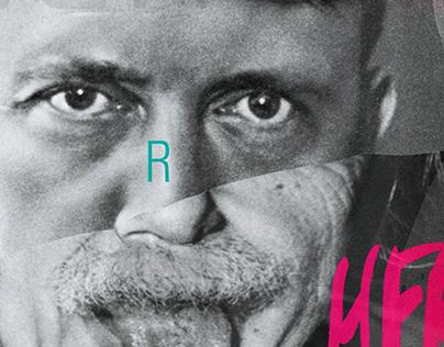 Poster Hitler/Albert einstein +