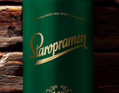 Staropramen 145 Anniversary Package Design
