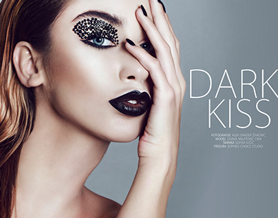 DARK KISS beauty editorial