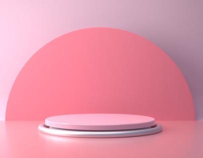 3D Product Showcase illustration rendering