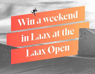 Keyvisual for Burton Zurich / Laax Open