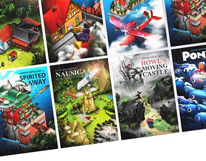 Hayao Miyazaki // Isometric Poster Series