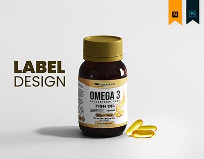 VibraxLabs OMEGA 3 - Labels Design
