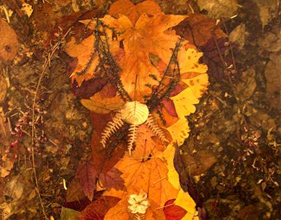 Leaf Lady - Organic Mixed Media