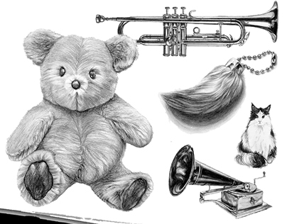 Observational Realistic Pencil Drawings in still life