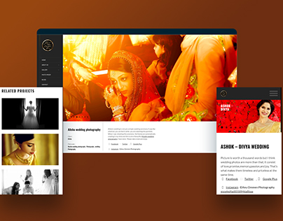 Anu Ommen Photography- A website project