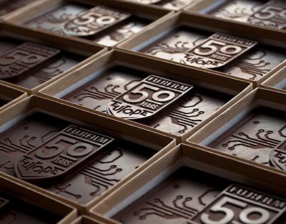 Typographic chocolate - handmade