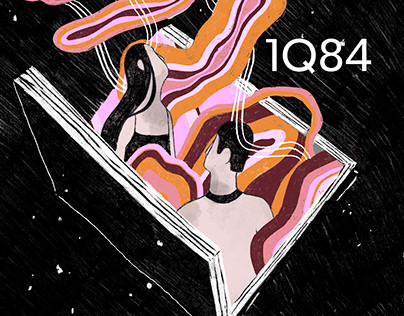 1Q84 illustrated cover