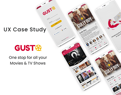 GUSTO-Movies & TV Show App UX Case Study