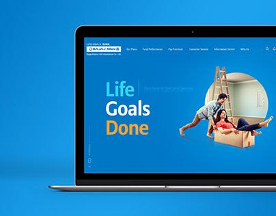Bajaj Allianz Life Insurance Website Revamp
