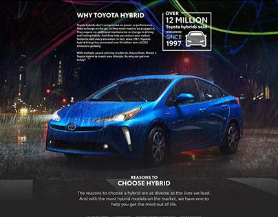 Toyota Canada Hybrids Page