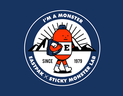 EASTPAK X STICKY MONSETR LAB