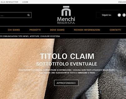 Lanificio Menchi | website redesign | responsive | 2015