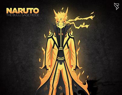 Naruto - The Bijuu Mode - Vector Illustration