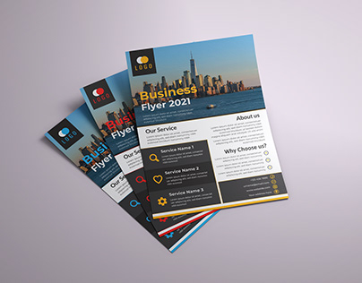 Corporate Business Flyer Design Template (FREE)