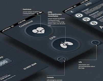 "2013 - iOS & Android app: ""Savealife"" + icon design"