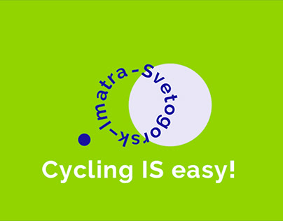 Imatra-Svetogorsk cycle lane logotype