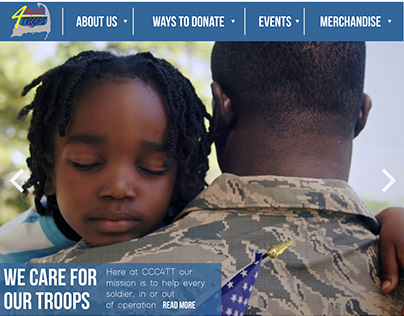 Cape Cod Cares for the Troops Website Redesign