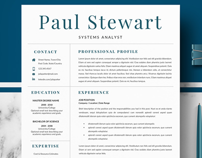 Professional Resume / CV Template for Pages and Word