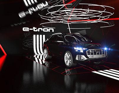 Audi E-tron Innovation Hub. Architectural concept.