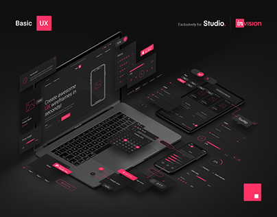 Basic UX — Free design resources for InVision Studio