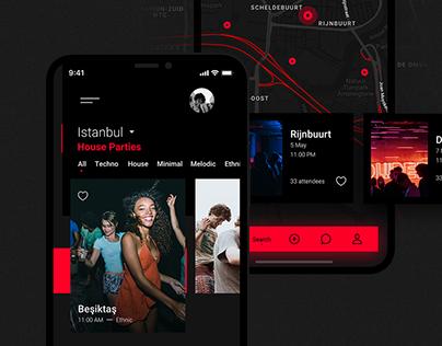 House Party App Concept