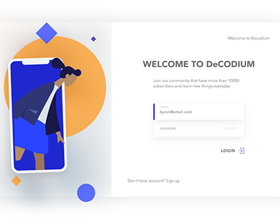 Free Adobe XD Login Screens Designs