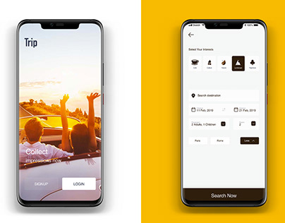 "Travel ""Trip"" App design"