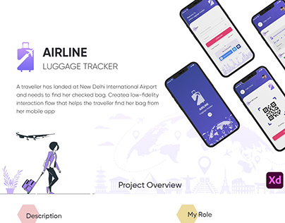 Airline Luggage Tracker UX/UI Case Study
