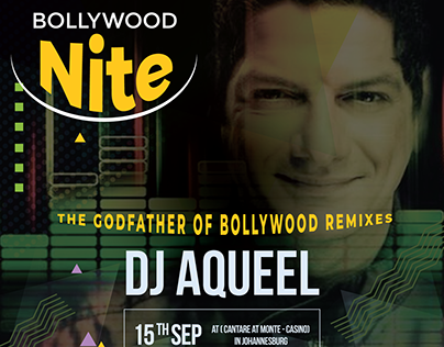 DJ Aqueel Poster Design