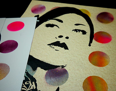 ILLUSIONS - hand cut/hand sprayed stencils - 2015