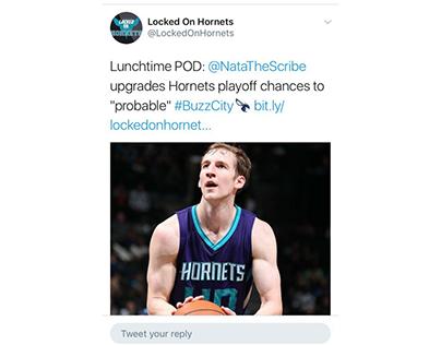 Locked On Hornets Sample Tweet 2
