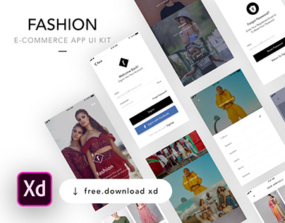 Free Adobe XD Resource - E-commerce App