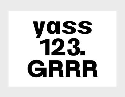 Pedalo typeface