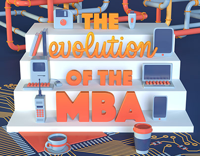 Evolution of the MBA Issue Cover of Ambition Magazine