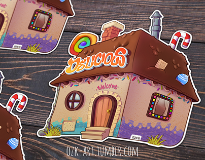 La casa de Chocolate (Stiker) + Speedpaint video
