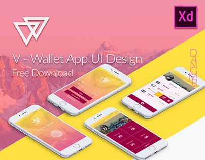 V - Wallet App UI Design iPhone
