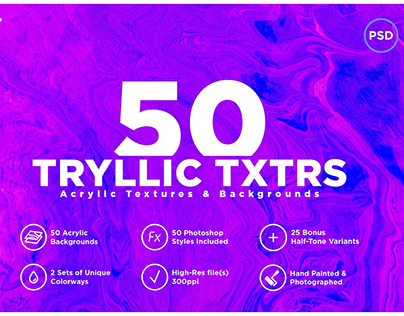 50 Acrylic Backgrounds & Textures